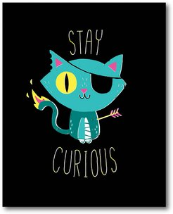 Stay Curious Gallery-Wrapped Canvas Wall Art