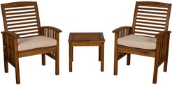 Hewson Acacia Wood Patio Chairs and Side Table