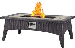 Splendor 43.5in Rectangle Outdoor Patio Fire Pit Table