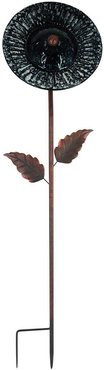 Peaktop Outdoor 10in Solar Handpainted Sunflower Garden Stake