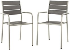 Modway Shore Dining Chair Outdoor Patio Aluminum Set