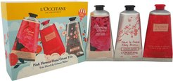 L'Occitane Pink Flowers Hand Cream Trio Kit