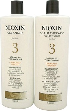 Nioxin 33.8oz System 3 Cleanser Scalp Therapy Conditioner Duo