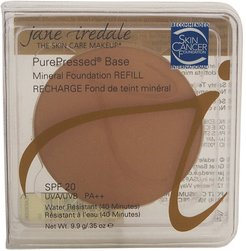 Jane Iredale 0.35oz Teakwood PurePressed Base Mineral Foundation Refill with SPF 20