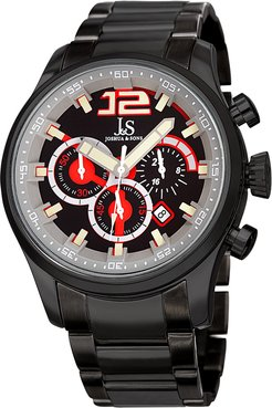 Joshua & Sons Men's Brushed Stainless Steel Watch