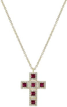Diana M. Fine Jewelry 14K 0.73 ct. tw. Diamond & Ruby Necklace