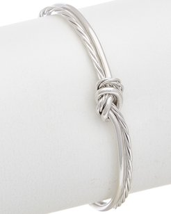 Juvell 18K Plated Twisted Cable Love Knot Cuff Bracelet