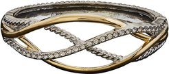 Juvell 18K Plated CZ Twisted Cable Bangle Bracelet