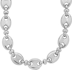 Sterling Forever Rhodium Plated Anchor Necklace