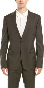 Z Zenga 2pc Wool Suit with Flat Pant