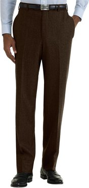 Brooks Brothers Milano Fit Plain-Front Wool Trouser
