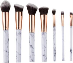 Zoe Ayla 7pc Marble Effect Make Up Brush Set with Leather Pouch