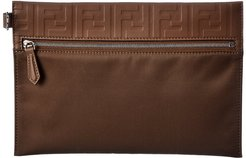 FENDI Nylon & Leather Pouch