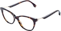 FENDI Women's FF 0201 52mm Optical Frames