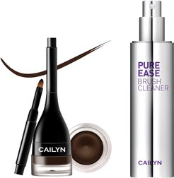 Cailyn Cosmetics Chocolate Mousse LineFix Waterproof Gel Eyeliner Pomade with Built-in Liner Brush