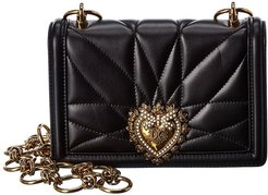 Dolce & Gabbana Devotion Mini Matelasse Leather Shoulder Bag