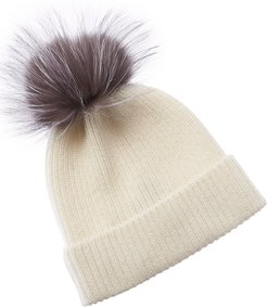 Amicale Cashmere Ribbed Beanie