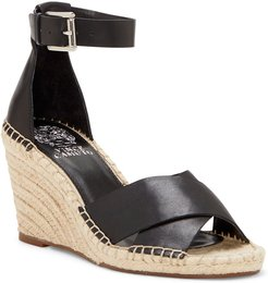 Vince Camuto Layann Leather Wedge Sandal