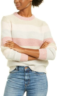 Rebecca Taylor Striped Wool-Blend Pullover