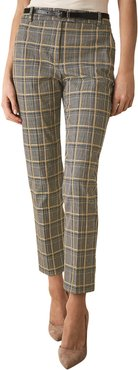Reiss Joanne Check Yellow Check Trouser
