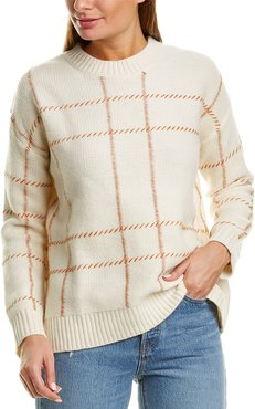 Chinti & Parker Contrast Check Wool Sweater
