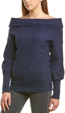 Michael Stars Off-Shoulder Puff Sleeve Pullover