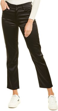 J Brand Jules Black High-Rise Straight Leg Jean
