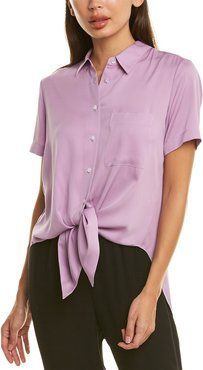 Theory Hekanina 2 Silk-Blend Top