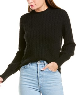 Chinti & Parker Cable-Knit Cashmere & Wool-Blend Sweater