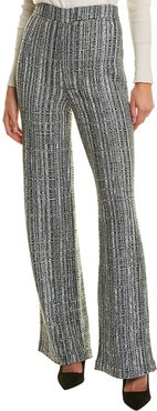 St. John Ribbon Textured Wool-Blend Pant