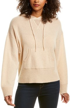 Hannah Rose Cropped Easy Cashmere Hoodie