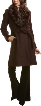 Nine West Medium Wool-Blend Coat