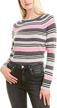 Hannah Rose Campus Stripe Cashmere Sweater