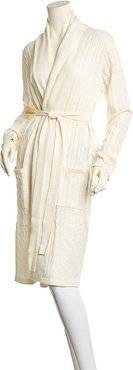 sofiacashmere Cable Cashmere Bathrobe