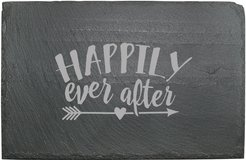 Susquehanna Glass Happily Ever After Slate Cheese Server