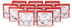 """Kate Aspen Set of 12 """"A Slice of Love"""" Pizza Cutters in Gift Box"""