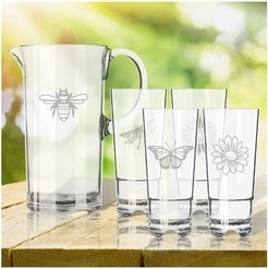 Gardener Set Tritan Pitcher and High Ball Glasses 16oz Set of 4