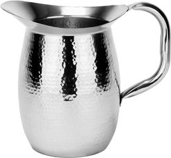 Old Dutch 2-qt Double-Walled Hammered Stainless Steel Water Pitcher