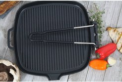 French Home Chasseur 9in Square French Cast Iron Grill