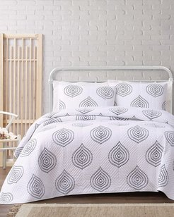 Cottage Classics Embroidered Ogee Quilt Set