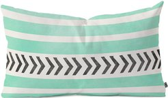 Deny Designs Allyson Johnson Mint Stripes And Arrows Oblong Throw Pillow