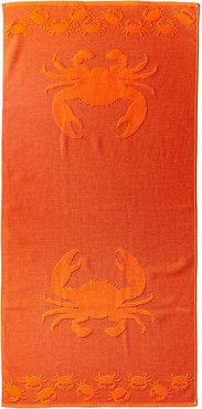 Dohler Sculpted Double Jacquard Crabs Beach Towel