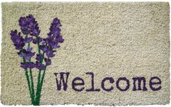 Entryways Lavender Welcome Doormat