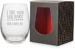Susquehanna Glass Last Name Stemless Wine & Gift Box