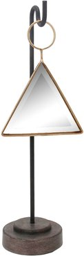 Sagebrook Home Hanging Metal Triangle Mirror On Stand
