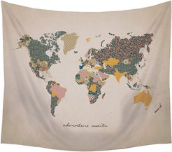 Stratton Home Decor Adventure Await Map Wall Tapestry