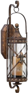 Metal & Glass Candle Sconce