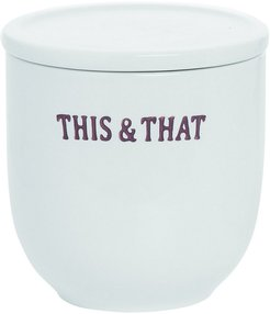 Transpac Ceramic White Spring Farmhouse This and That Container