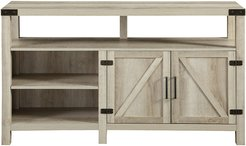 Hewson 58in Tall Farmhouse Wood TV Stand Storage Console