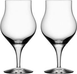 Orrefors Set of 2 Intermezzo Satin Snifter